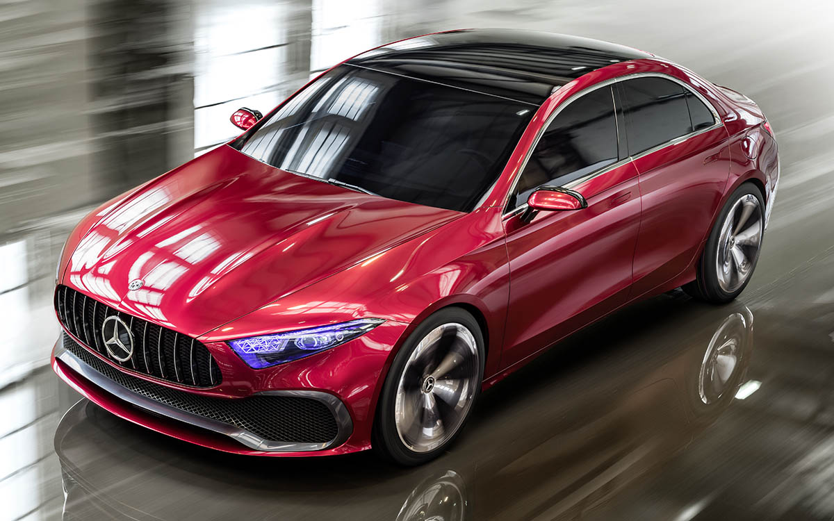 Mercedes Benz Concept A Sedan Aerea Garage fx