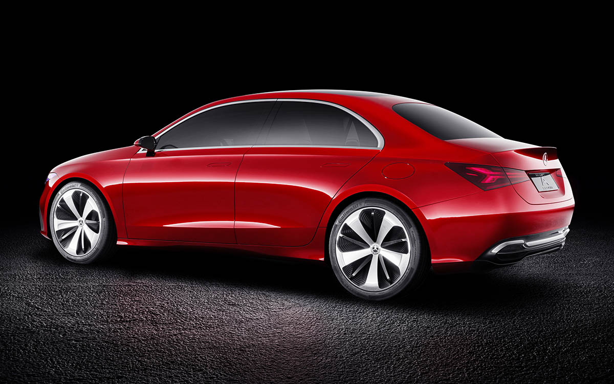 Mercedes Benz Concept A Sedan Lateral Trasera fx