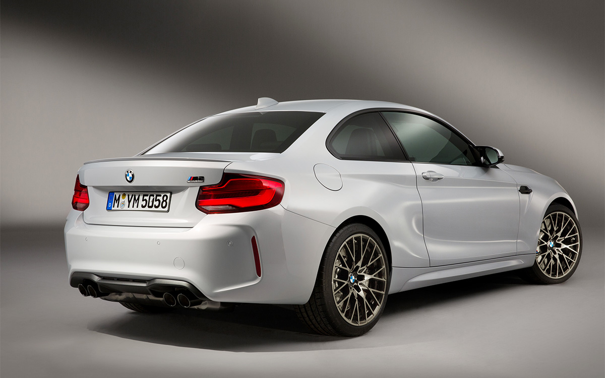 BMW M2 Competition trasera lateral fx
