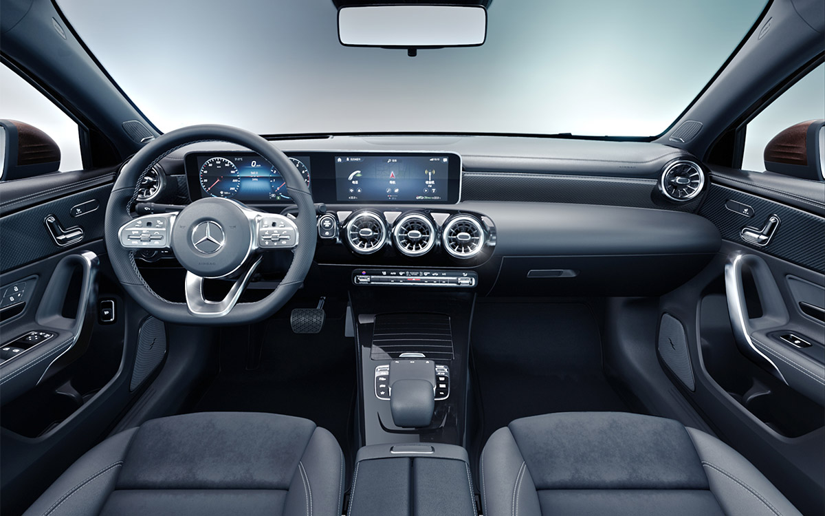 Mercedes Benz A Class L Sedan interior fx