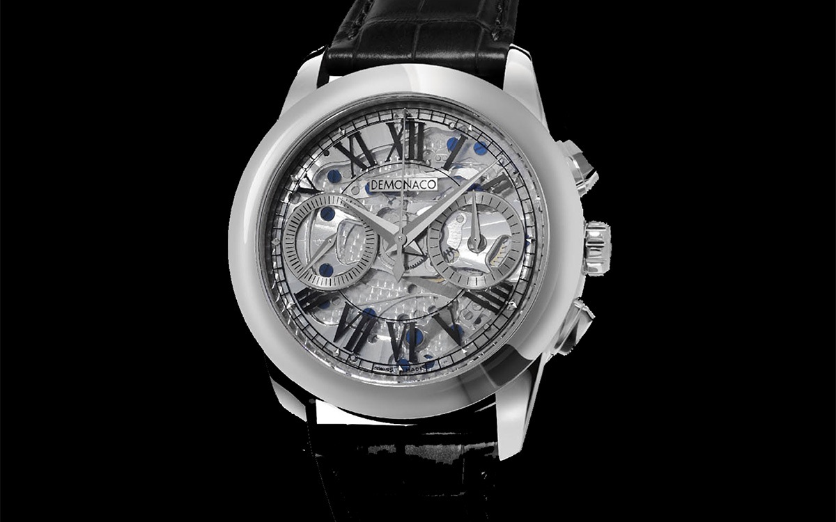 deMonaco Admiral Chronograph Flyback Saphir Cover fx