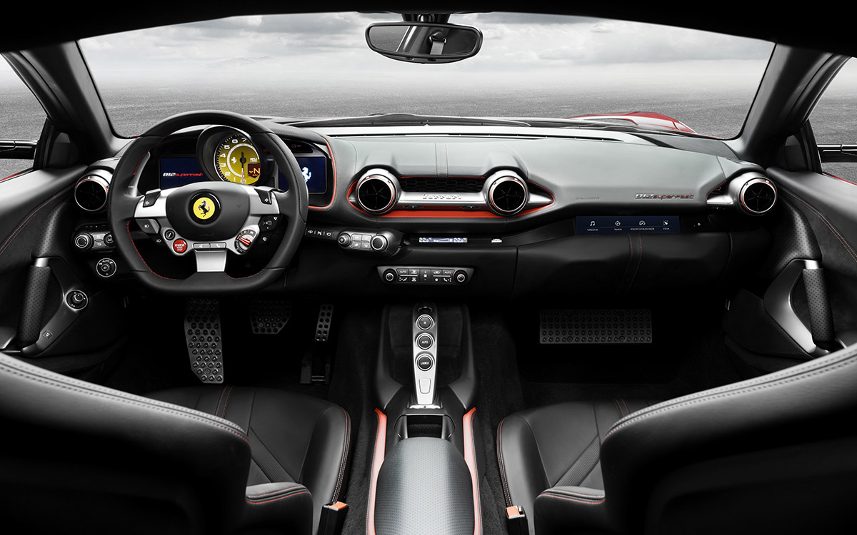 Ferrari 812 Superfast interior fx