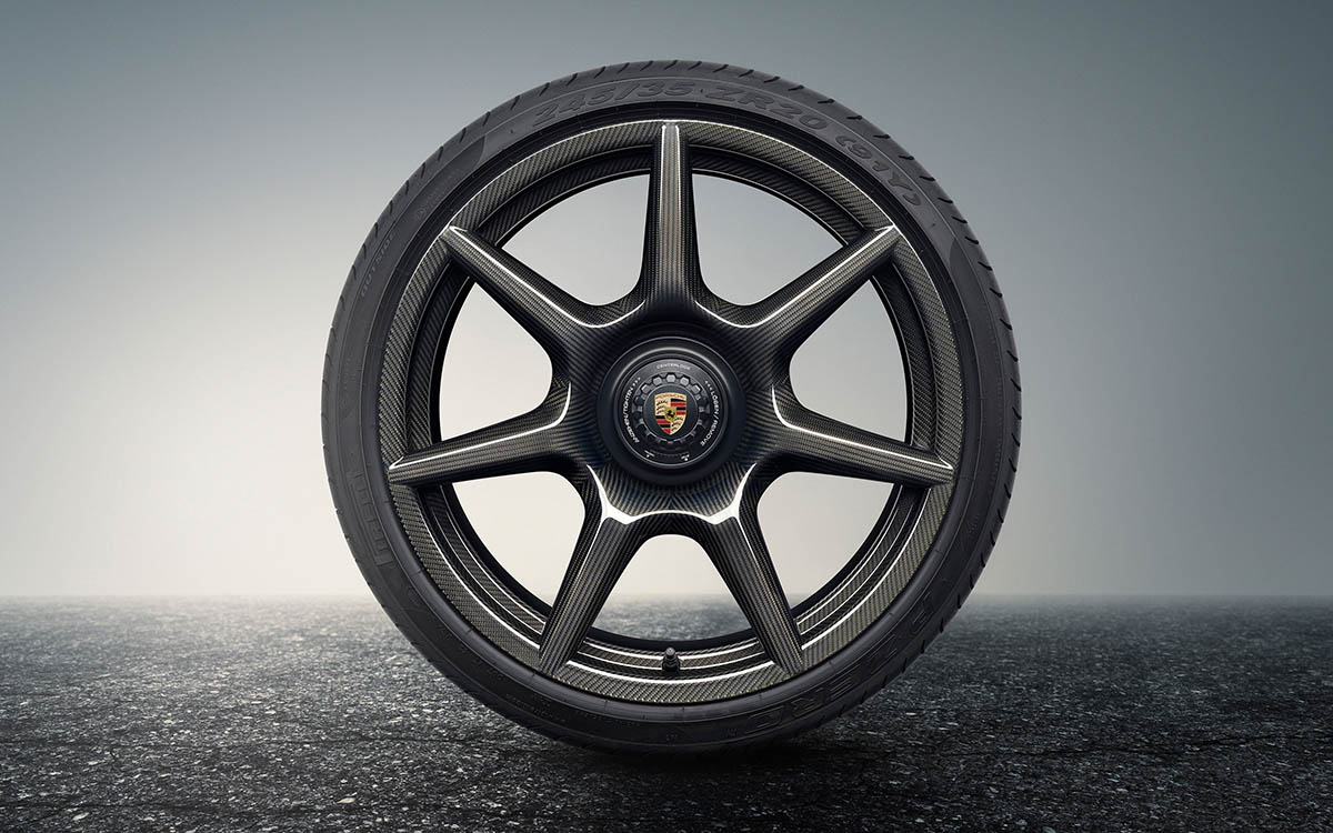 porsche 20 inch 911 turbo carbon wheel frente fx