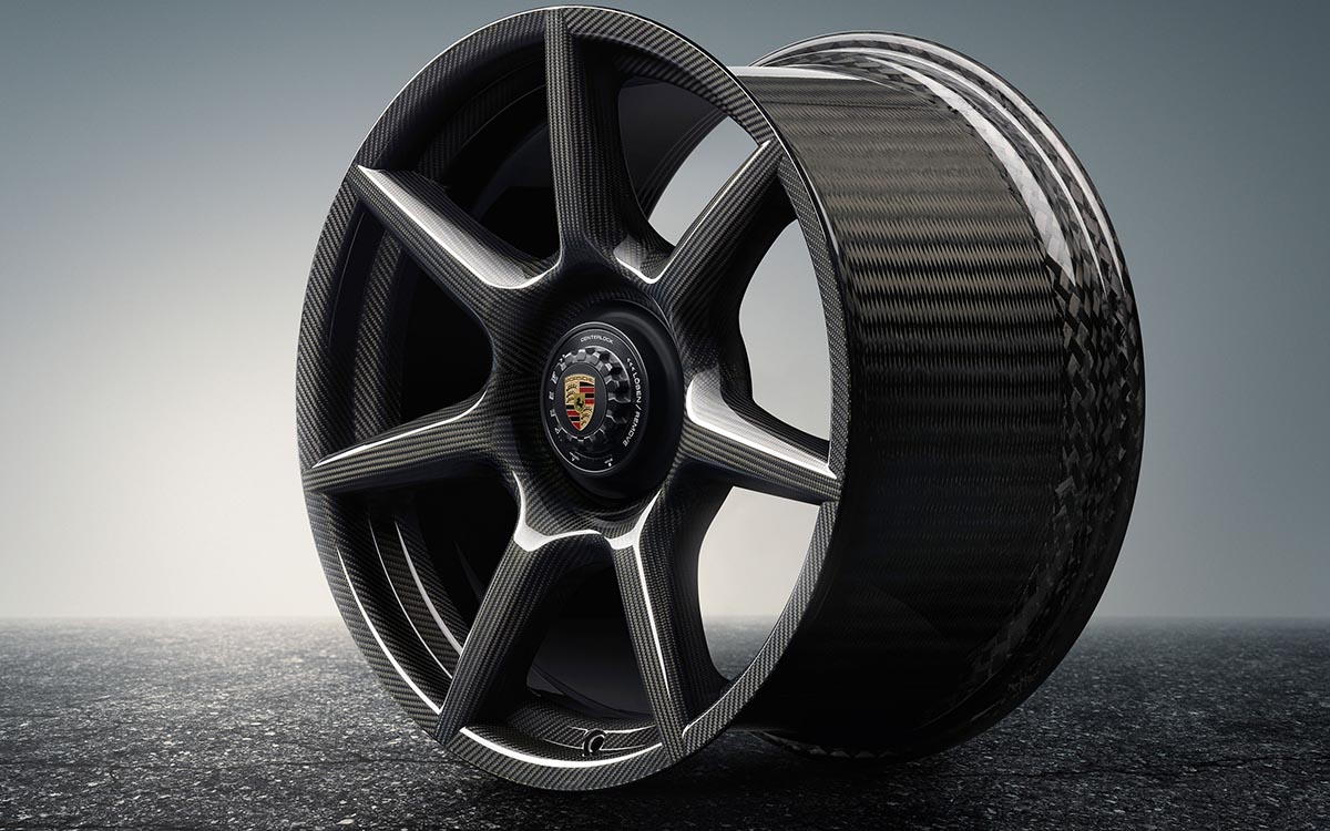 porsche 20 inch 911 turbo carbon wheel fx