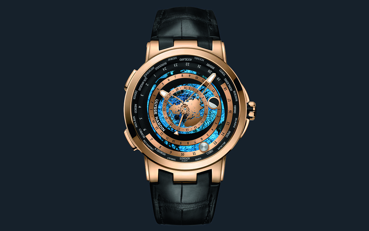 Ulysse Nardin Executive Moonstruck Worldtimer Gold Frente fx