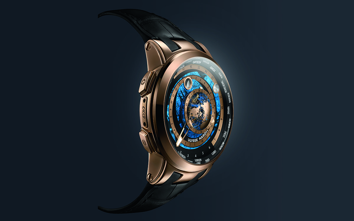 Ulysse Nardin Executive Moonstruck Worldtimer Gold fx