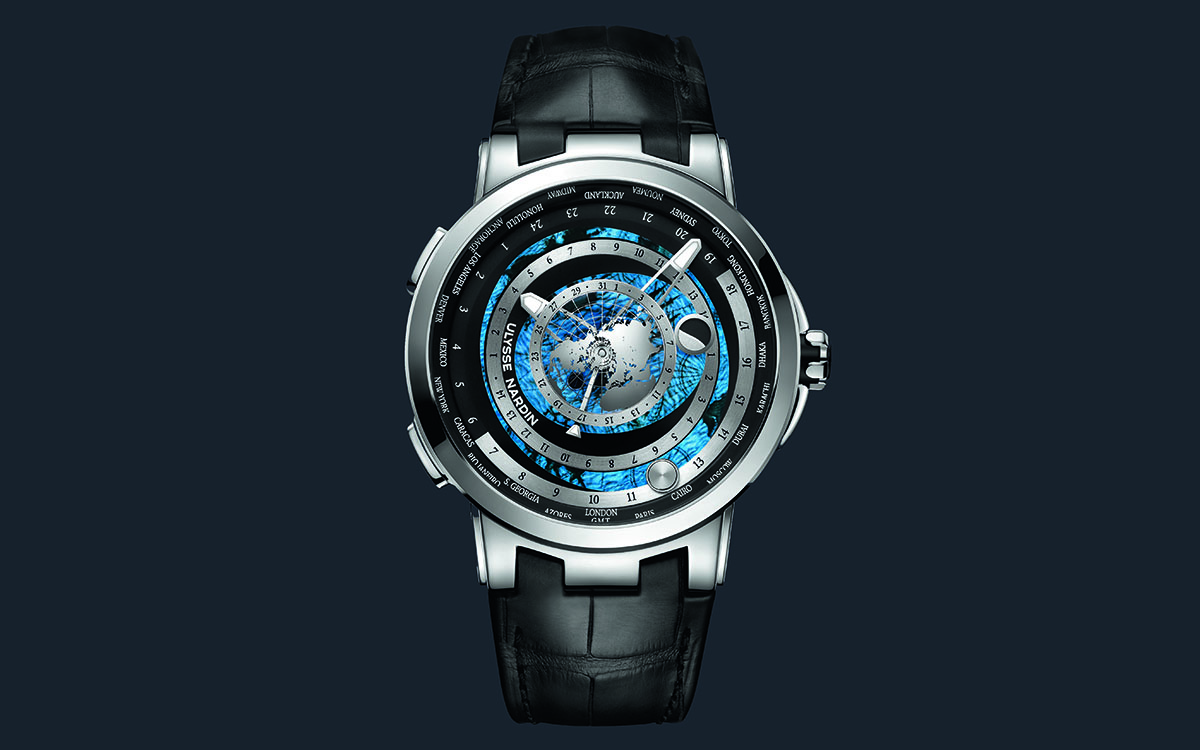 Ulysse Nardin Executive Moonstruck Worldtimer Titanium Frente fx