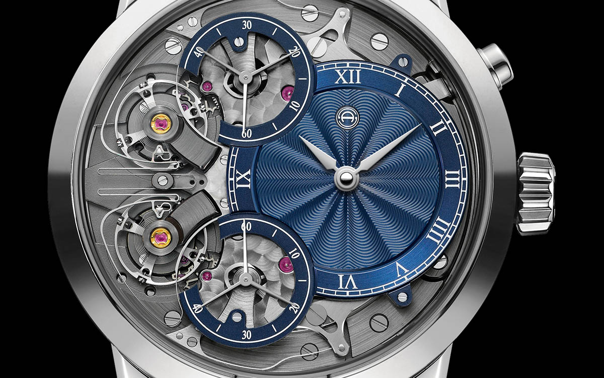 armin strom mirrored froce resonance guilloche dial cover