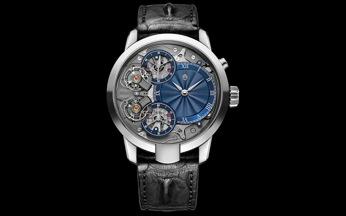 armin strom mirrored froce resonance guilloche dial frontal fx