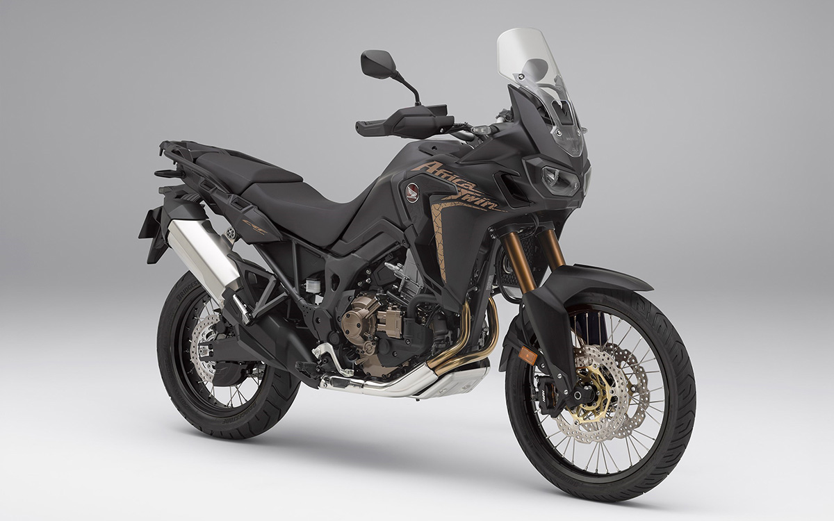CRF1000L Africa Twin black frente 3 4 fx