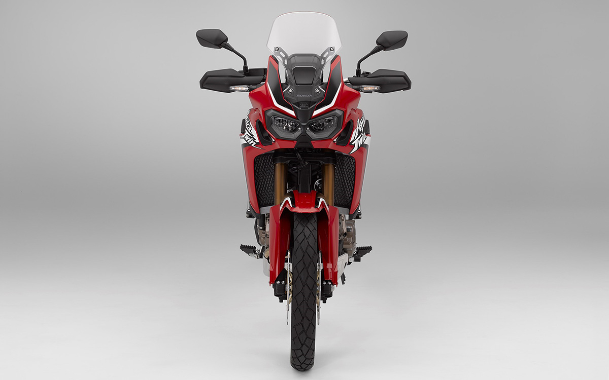 CRF1000L Africa Twin frontal roja fx