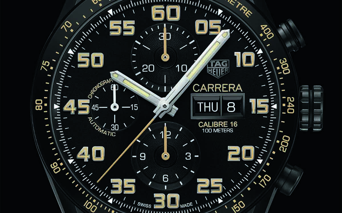 TAG Heuer Carrera Calibre 16 Day date Chrono Black Titanium Cover