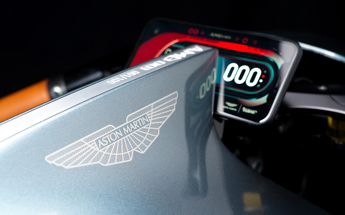 Aston Martin Limited Edition Motorcycle odometer fx