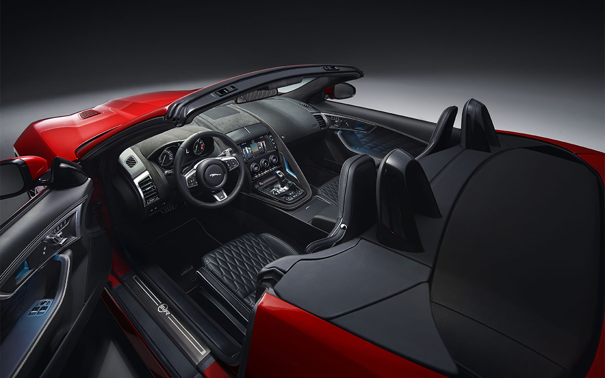 Jaguar F TYPE Interior Rojo fx