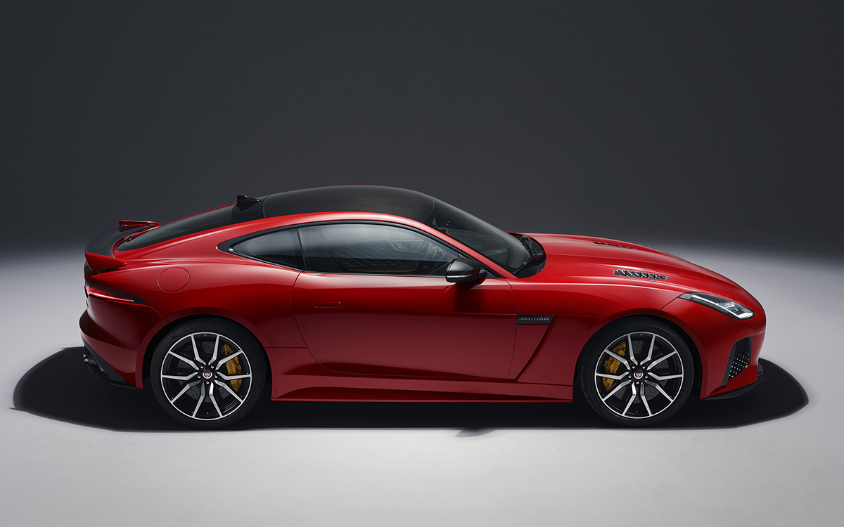 Jaguar F TYPE Lateral Rojo fx