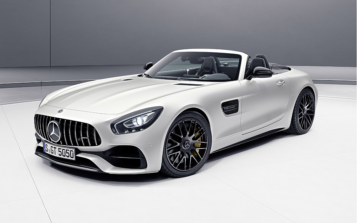 AMG GT C Roadster 50 Edition Blanco Frente fx