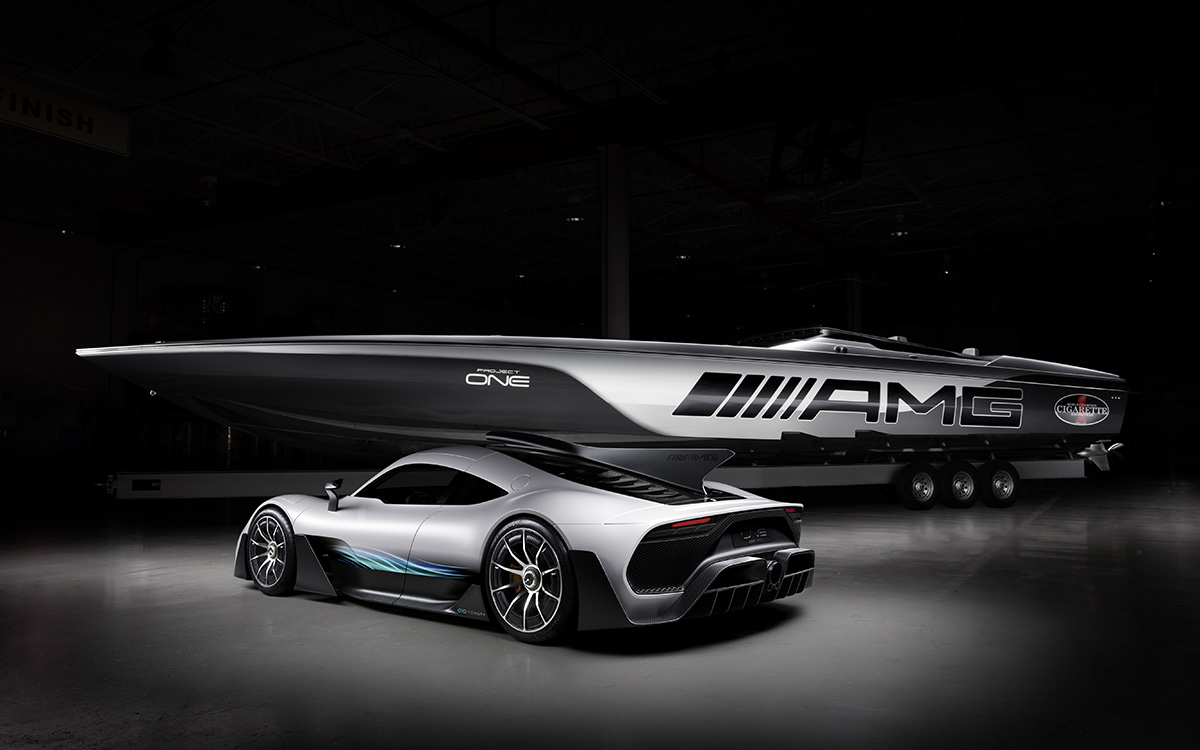 Mercedes AMG Cigarette Racing 515 Project ONE trasera fx