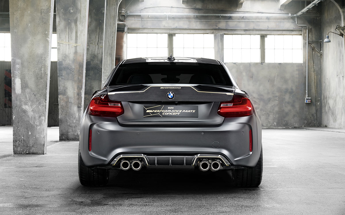 BMW M Performance Parts Concept trasera fx