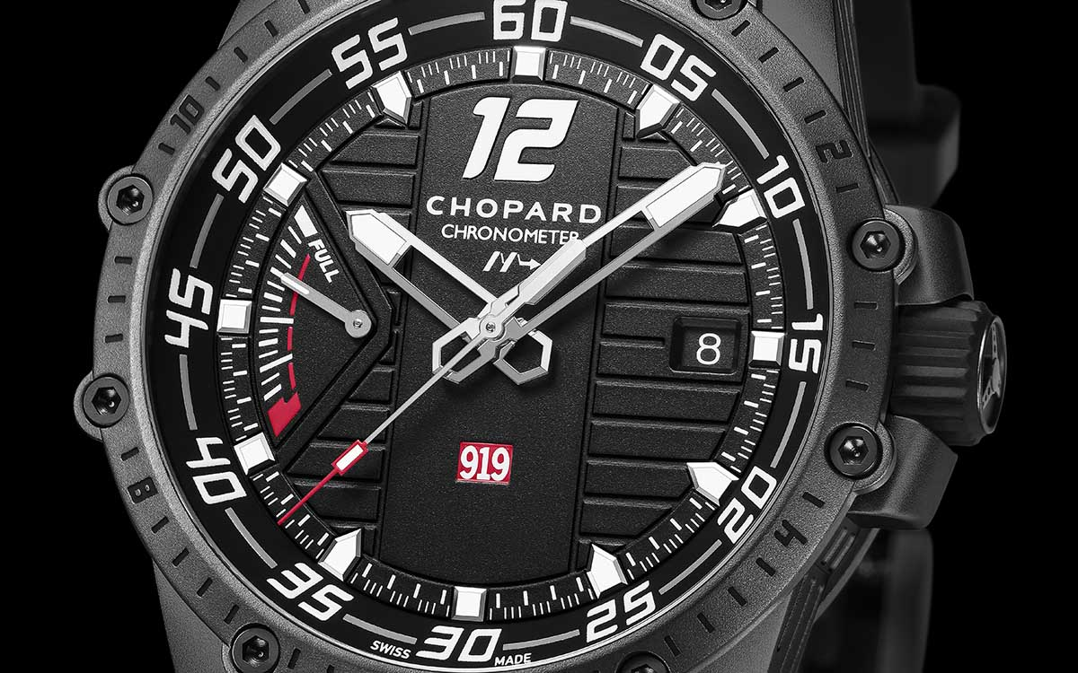 Chopard Superfast Power Control Porsche 919 HF Edition Frontal Macro fx