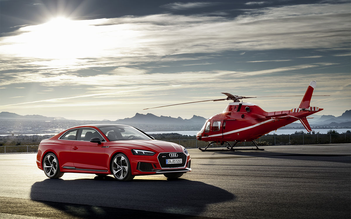 Audi RS 5 Coupe Helicoptero fx