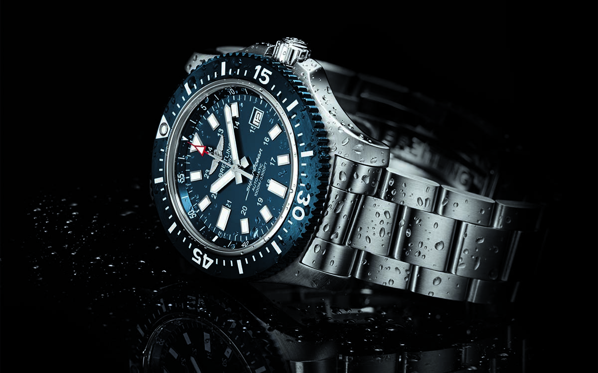 Superocean 44 Special blue dial lateral fx