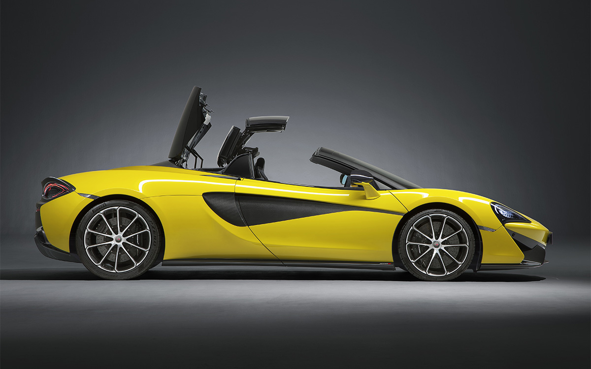 McLaren 570S Spider Lateral Techo Mid fx