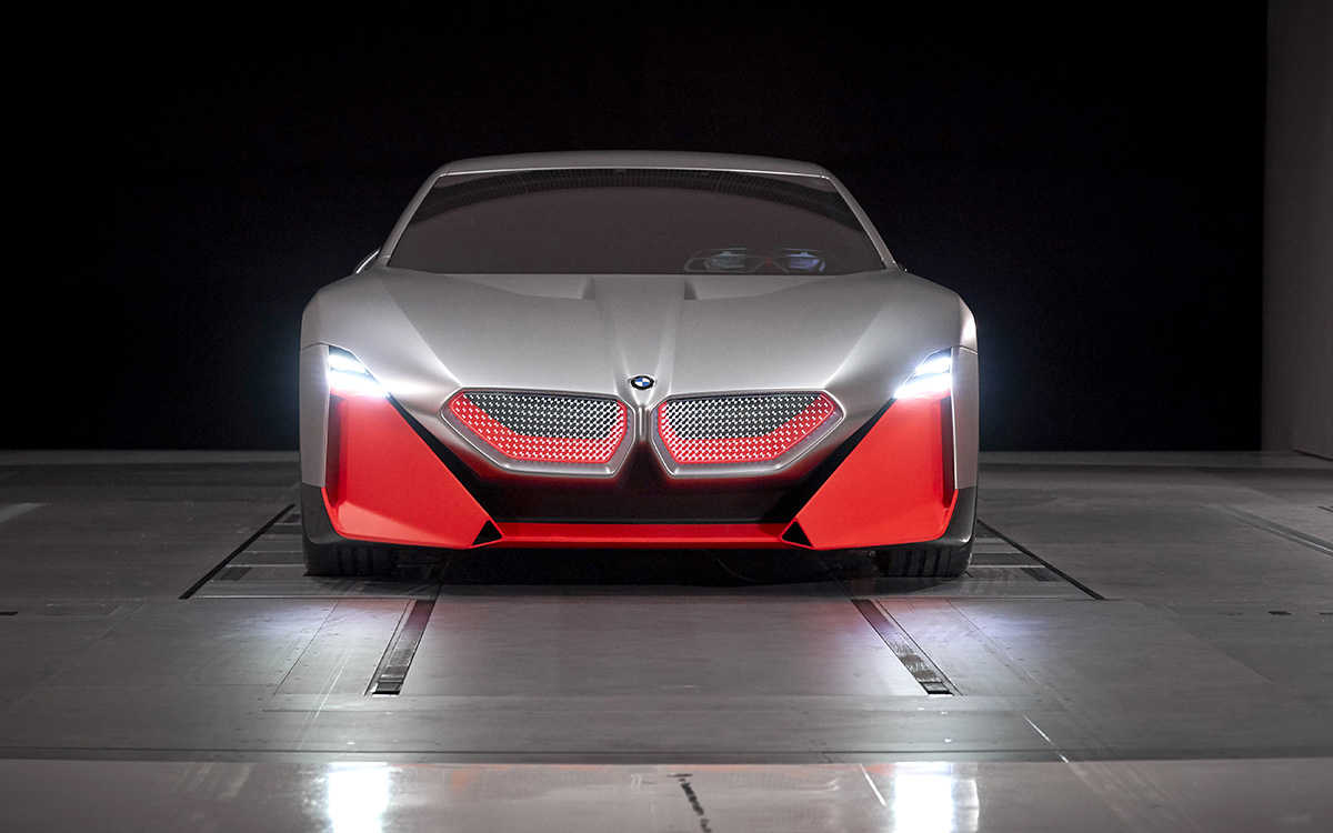 BMW Vision M NEXT frontal luces fx
