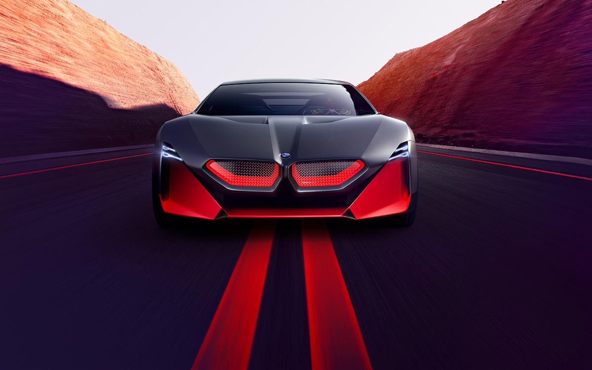 BMW Vision M NEXT frontal ruta fx