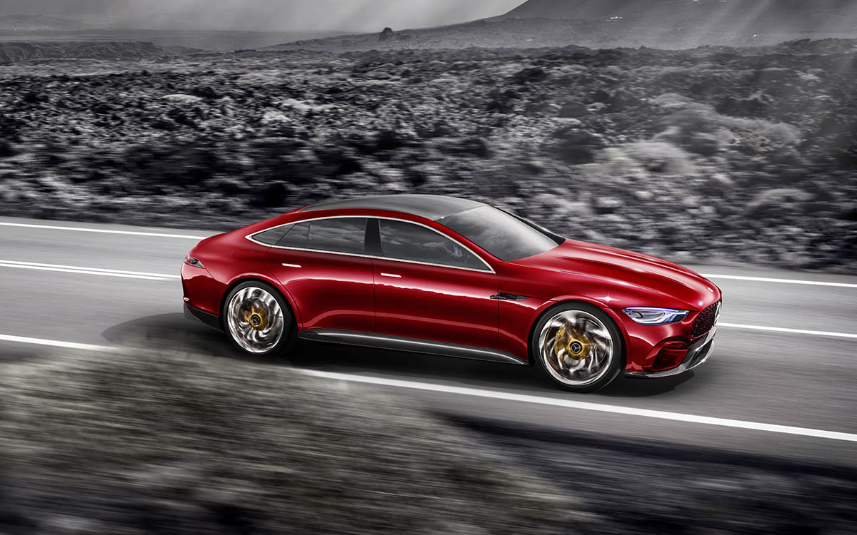 Mercedes AMG GT Concept Lateral Nubes fx