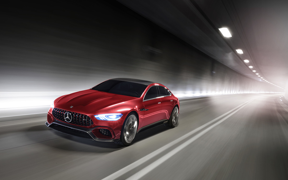 Mercedes AMG GT Concept Tunel Frente 2 fx