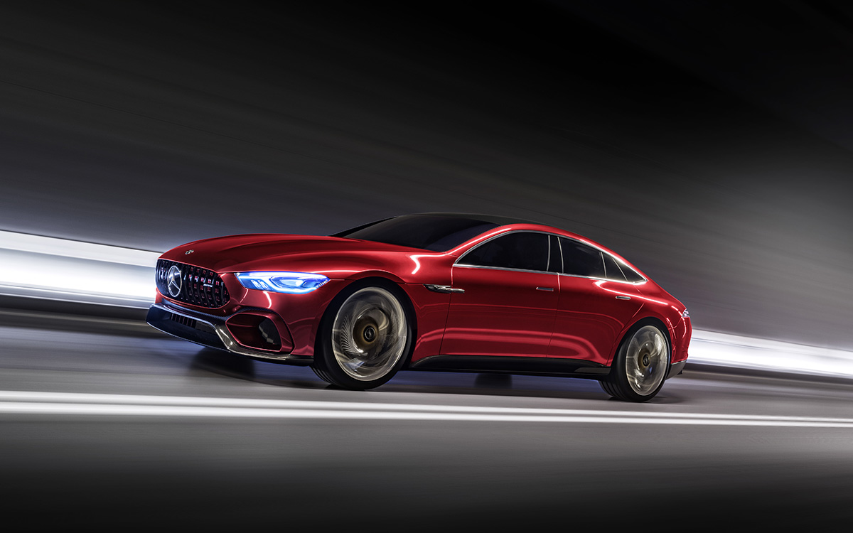 Mercedes AMG GT Concept Tunel Lateral fx