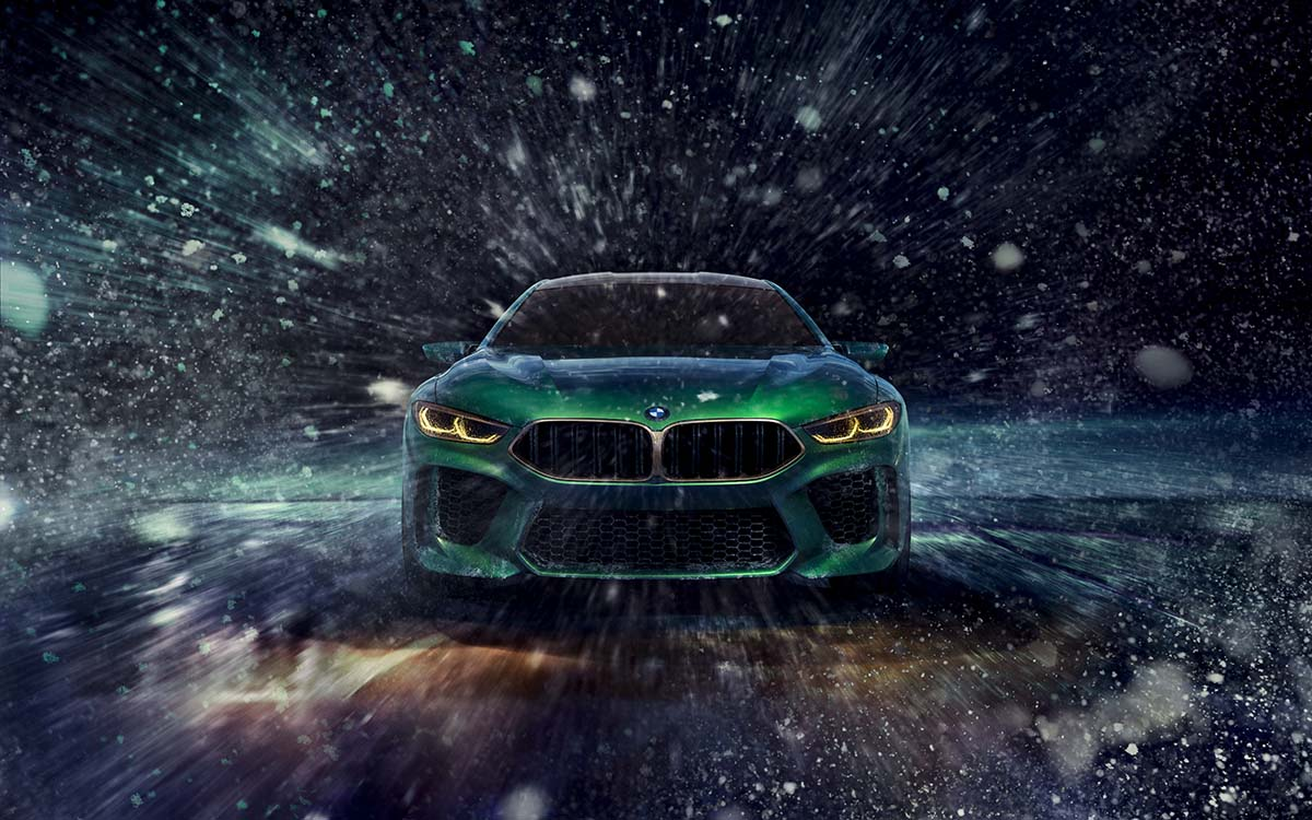 BMW Concept M8 Gran Coupe frontal fx