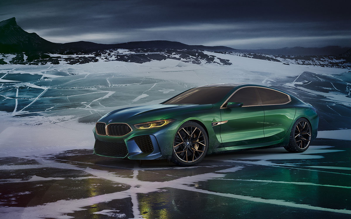 BMW Concept M8 Gran Coupe lateral fx
