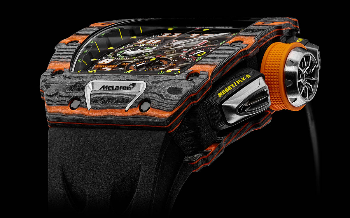 Richard Mille McLaren Automatic Flyback Chronograph frente 2 fx
