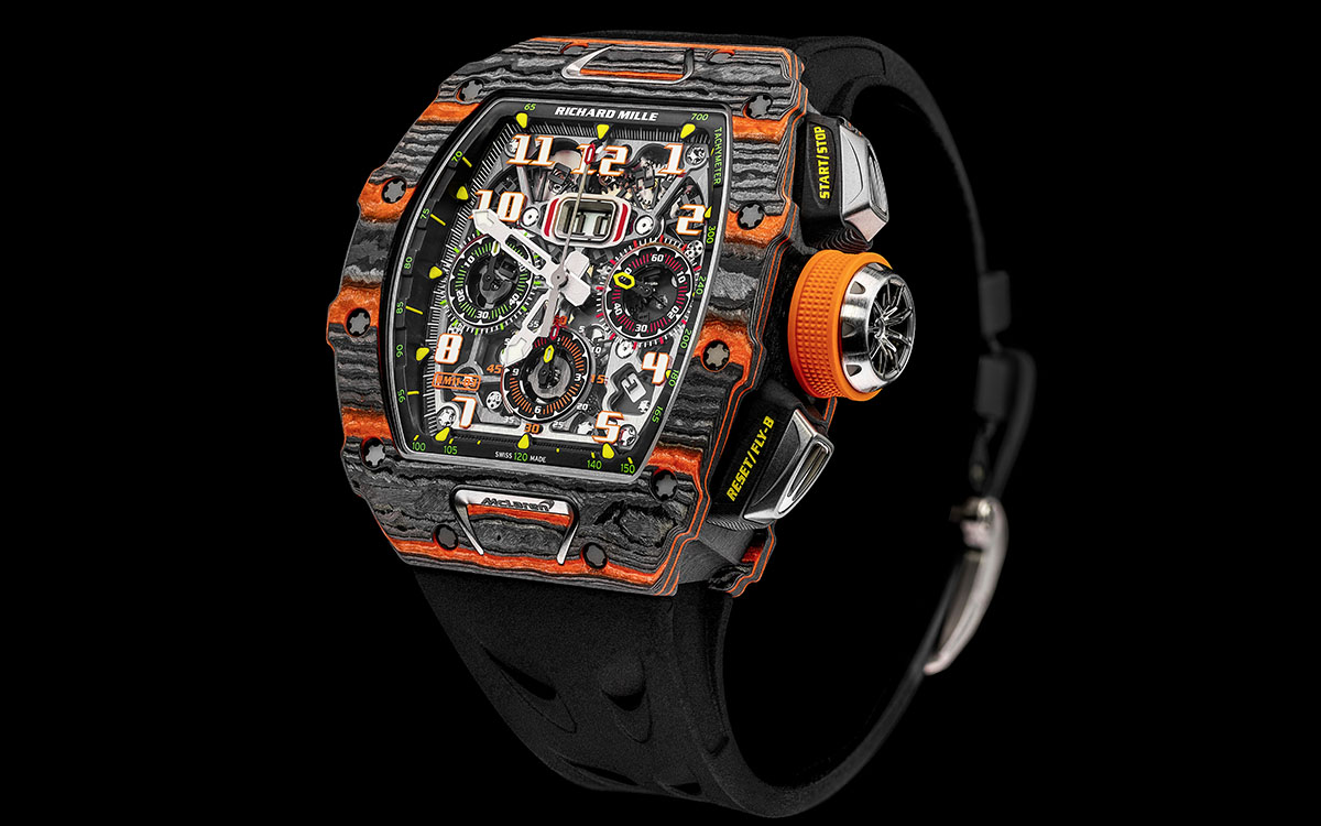 Richard Mille McLaren Automatic Flyback Chronograph frente fx