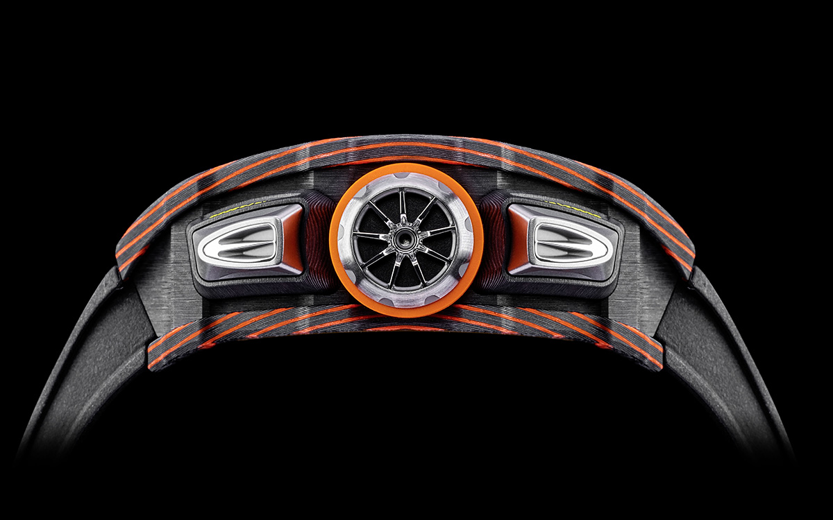 Richard Mille McLaren Automatic Flyback Chronograph lado fx