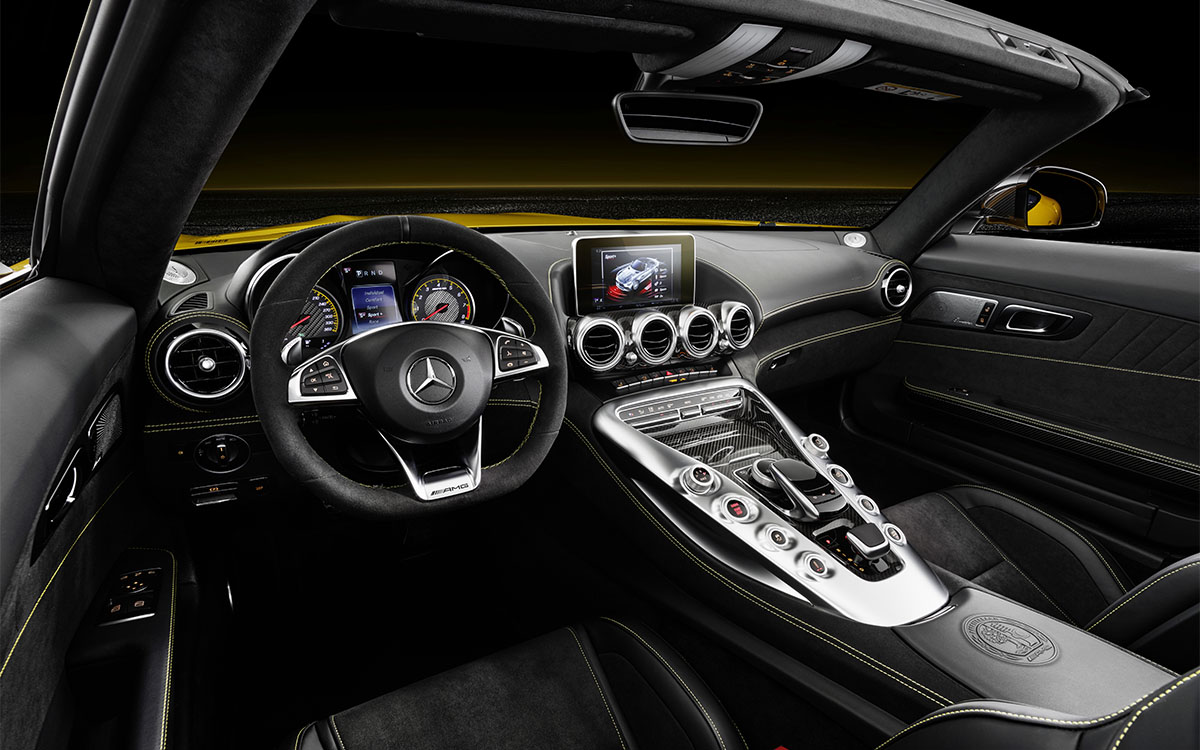 Mercedes AMG GT S Roadster interior fx