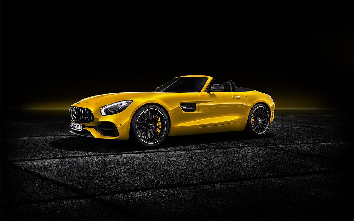 Mercedes AMG GT S Roadster lateral fx