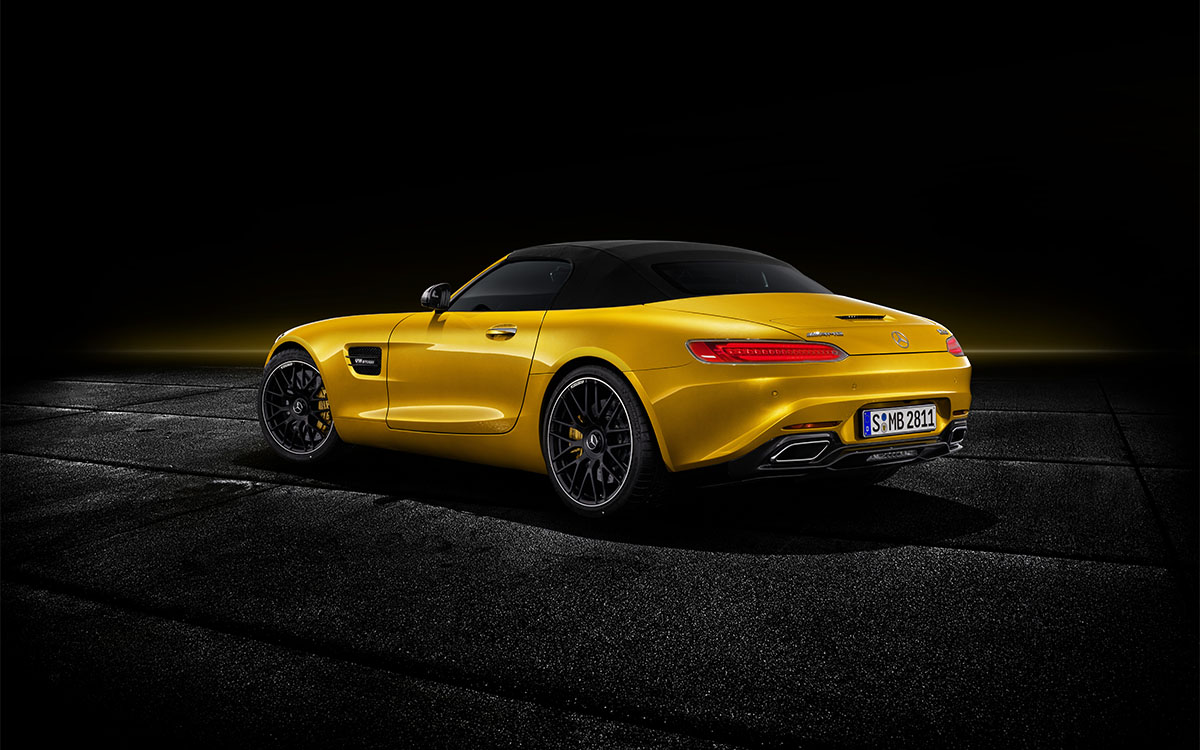 Mercedes AMG GT S Roadster trasera 2 fx