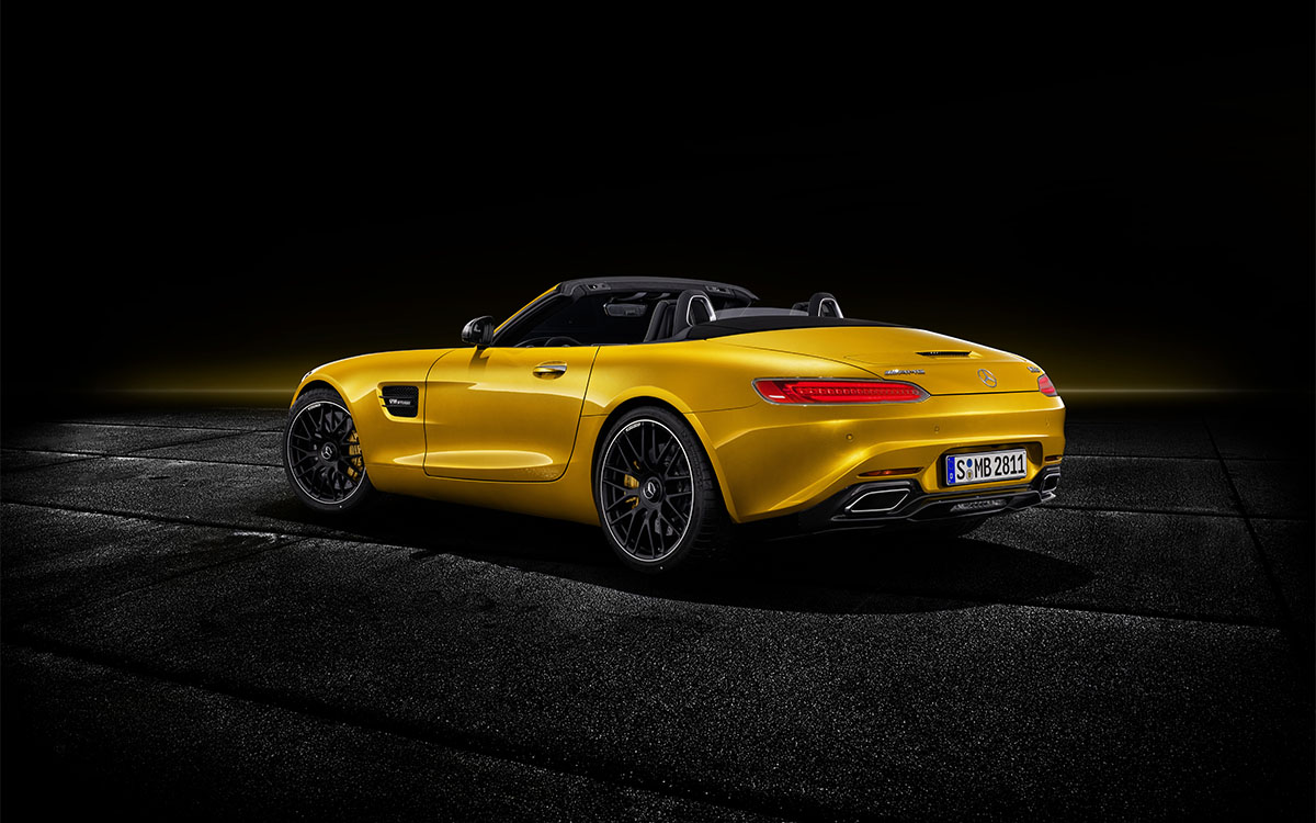 Mercedes AMG GT S Roadster trasera fx