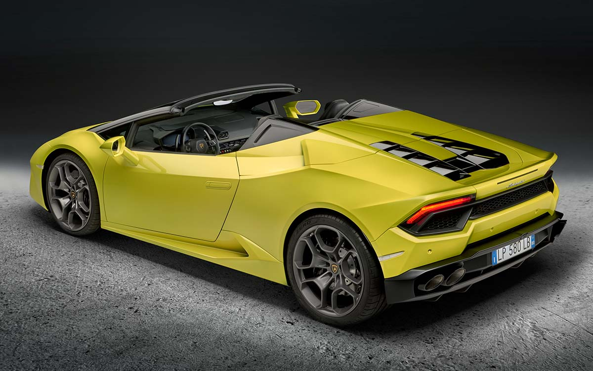 Huracan RWD Spyder Aerea Lateral fx