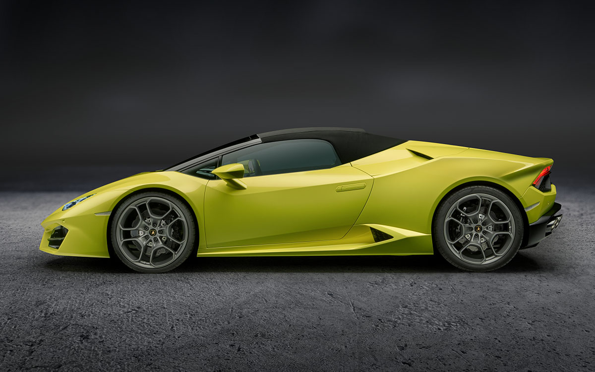 Huracan RWD Spyder Lateral Techo fx
