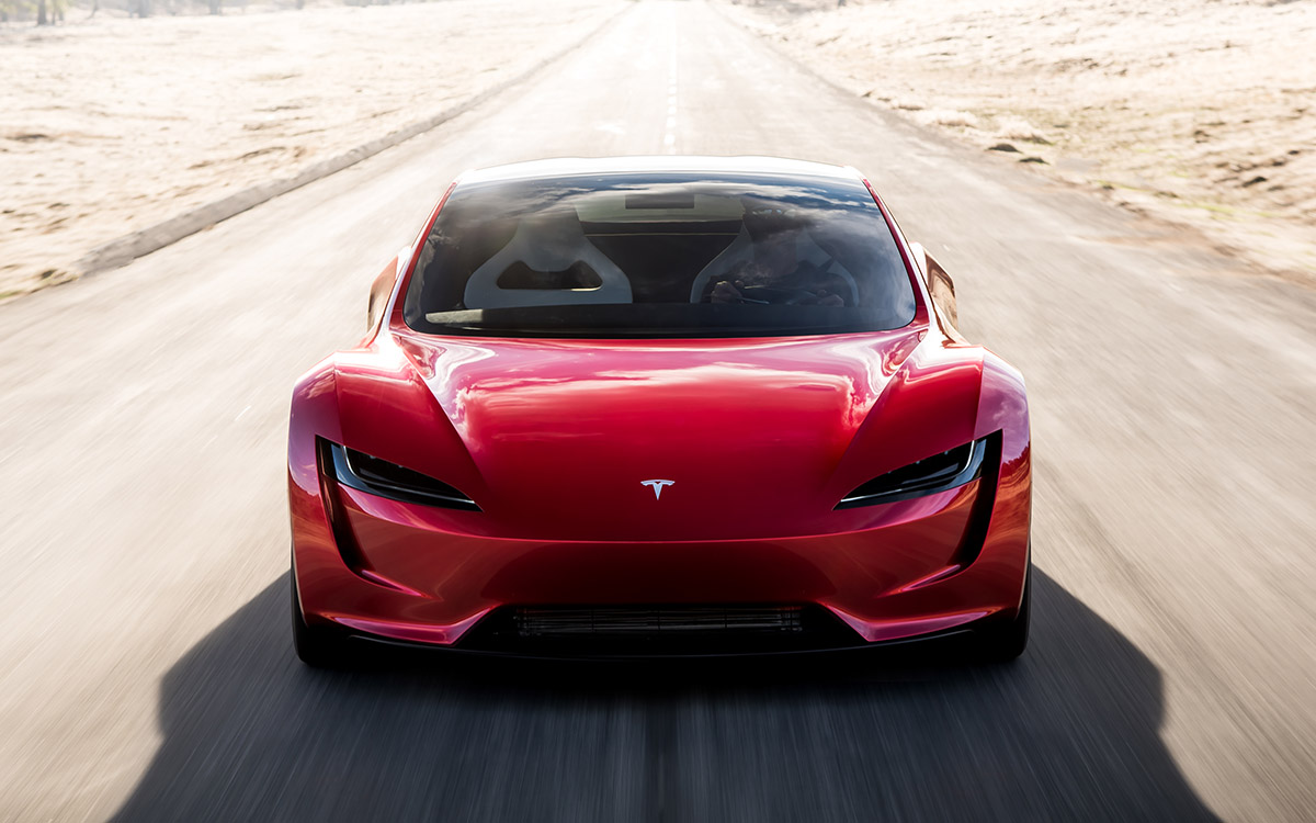 Tesla Roadster frontal fx