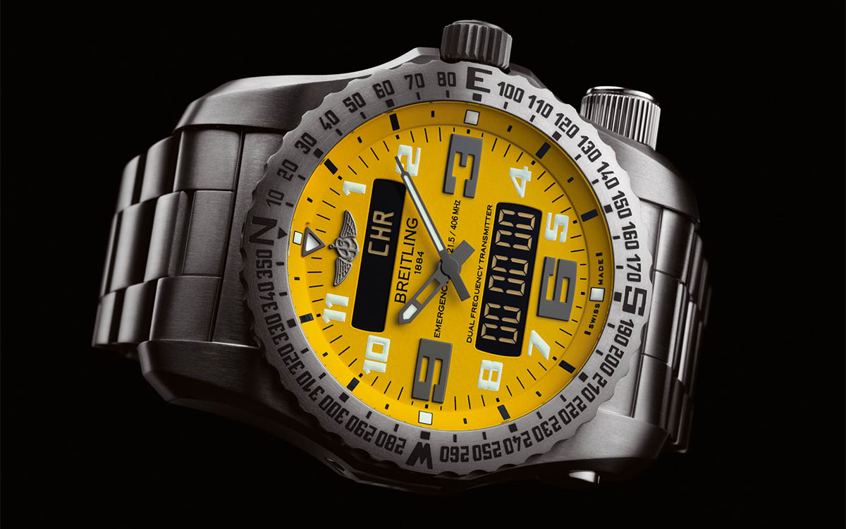 Breitling Emergency Night Mission Acero fx