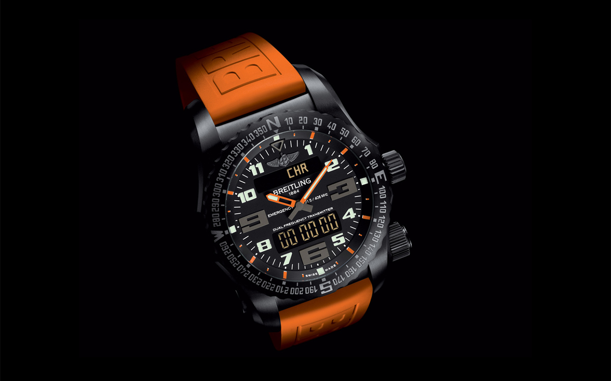 Breitling Emergency Night Mission Red fx