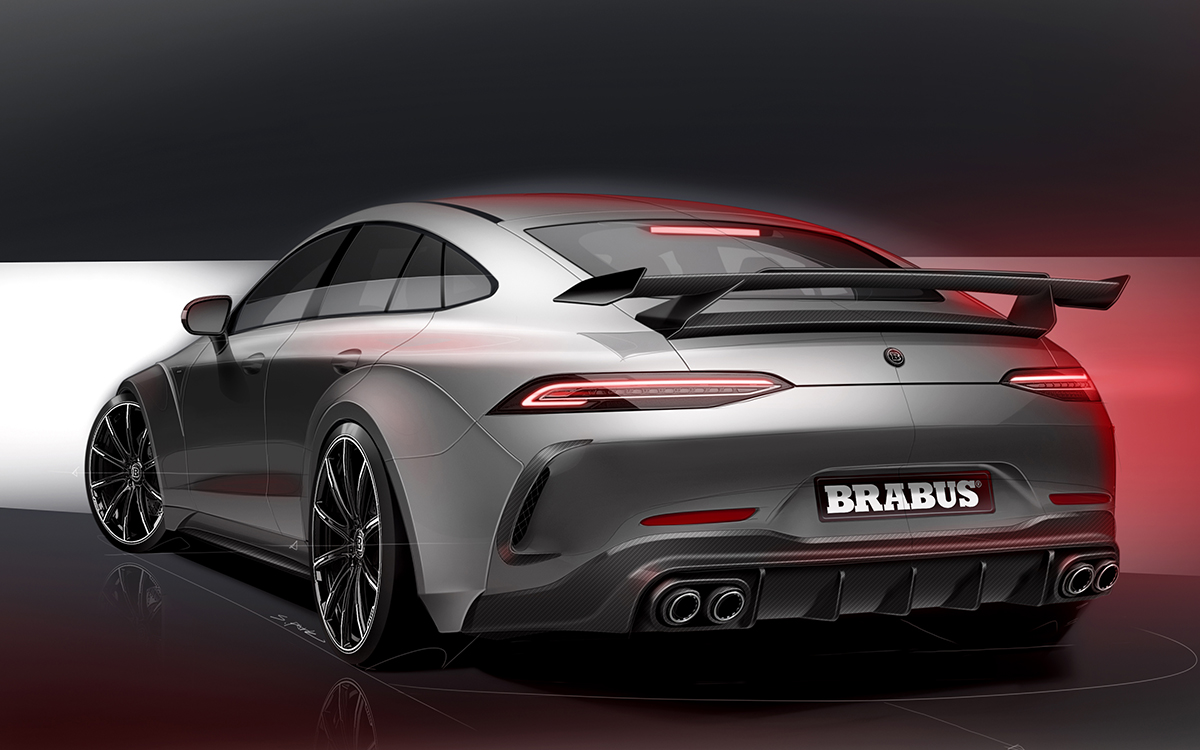 brabus rocket 900 one of ten trasera lateral render fx