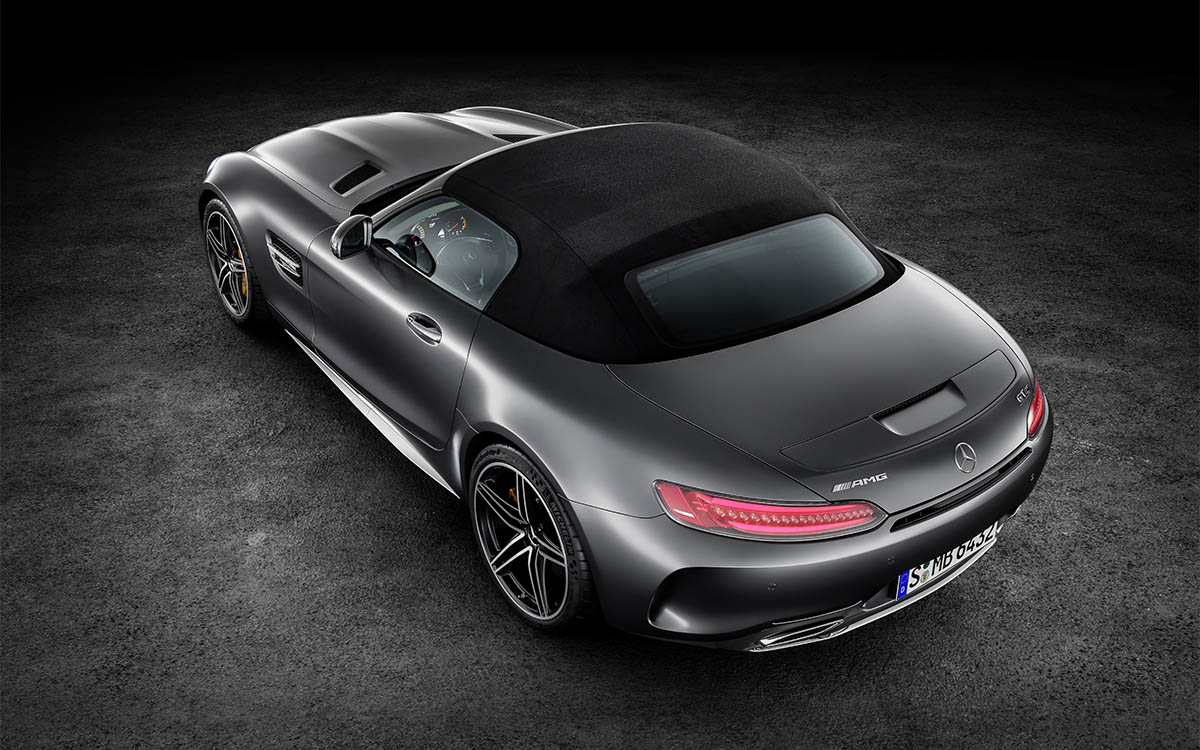 Mercedes AMG GT Roadster Aerea Trasera Techo fx