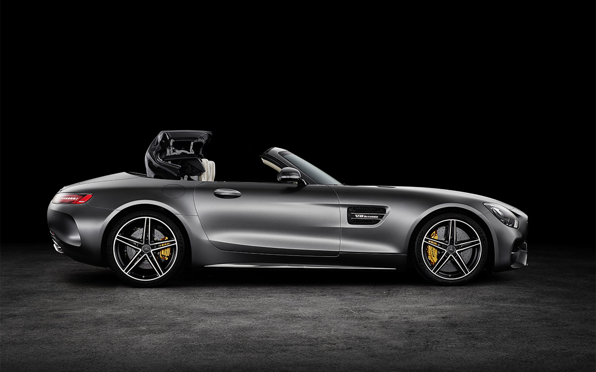 Mercedes AMG GT Roadster Lateral Plegando fx