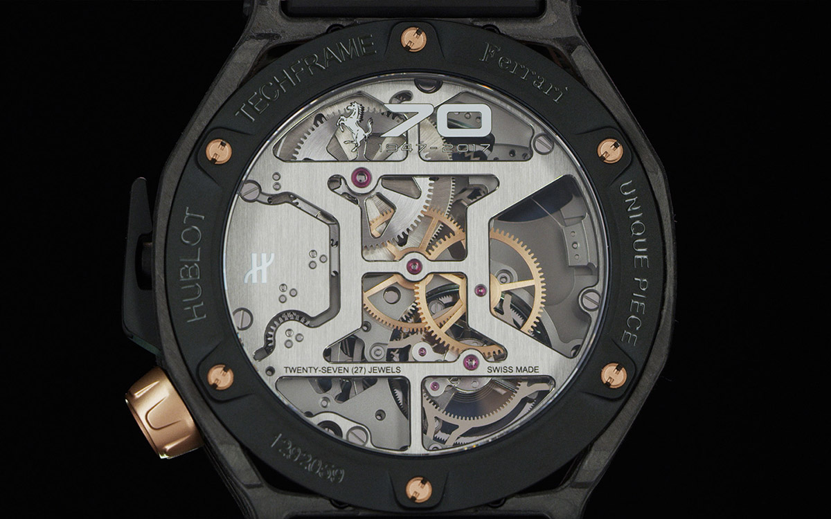 Hublot Techframe Ferrari 70 Years reverso fx