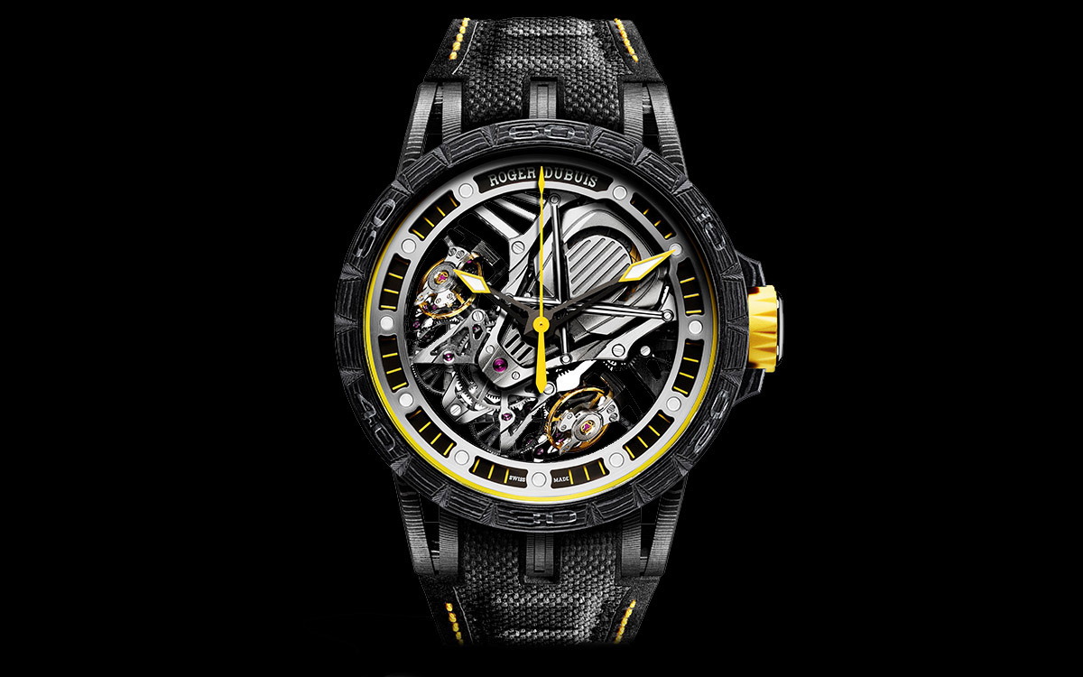 Roger Dubuis Excalibur Aventador S Yellow Frontal fxx